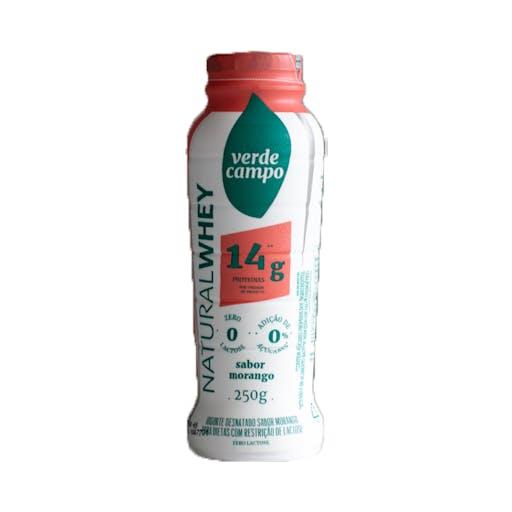 Iogurte Natural Whey 14g Morango - Verde Campo