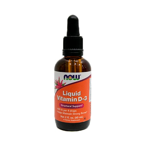 Vitamina D-3 Liquid Structural Support 60ml - Now