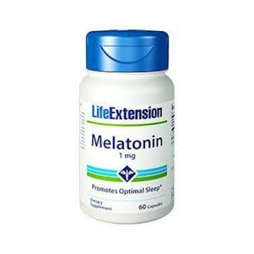 MELATONINA 1 mg, 60 CAPS - LIFE EXTENSION