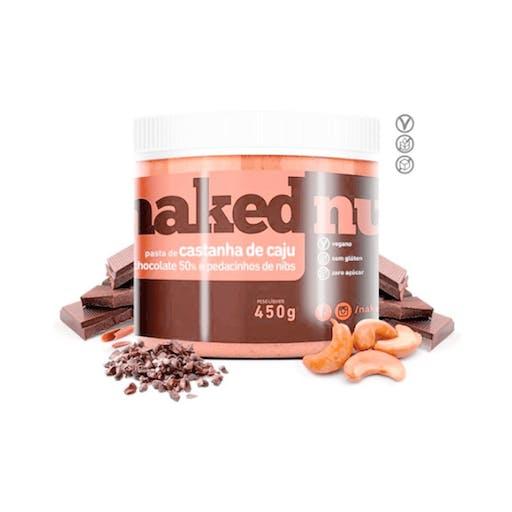 Pasta de Castanha de Caju com Chocolate Belga Crocante - 450 - Naked Nuts