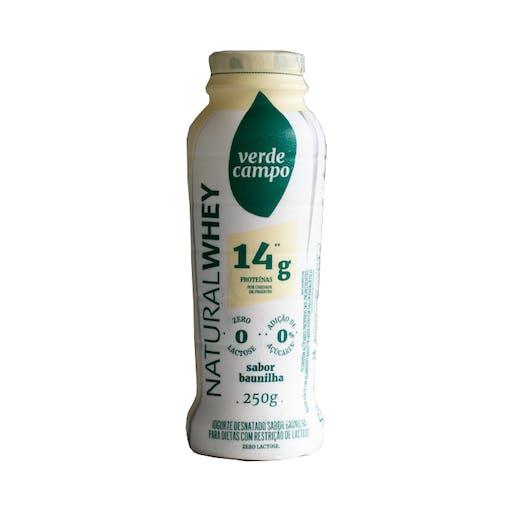 Iogurte Natural Whey 14g Baunilha 250g - Verde Campo