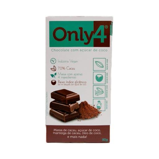 Chocolate 70% Cacau - Puro 80g - Only4