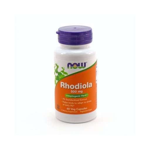 Rhodiola  rosea - 500mg - 60 caps veganas - NOW Foods