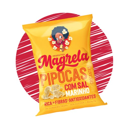 PIPOCA MAGRELA FIT - 35G- TRÊS SABORES
