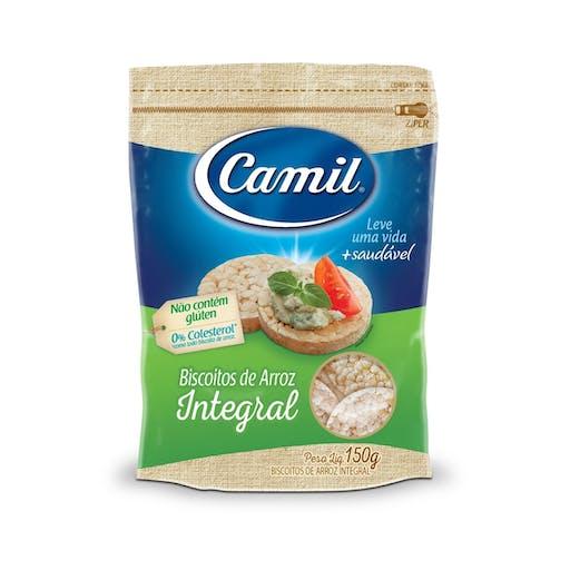 Biscoito de  Arroz  Integral - 150g - CAMIL