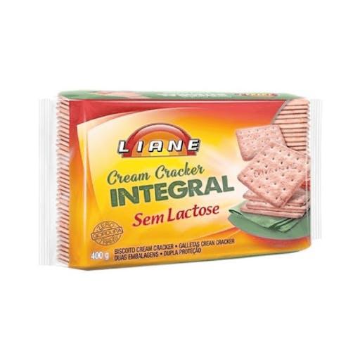 Biscoito Cream Cracker Sem Lactose Integral - 400g - Liane