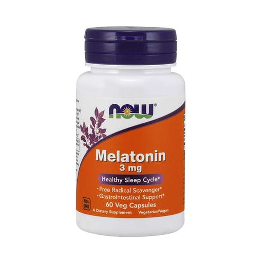 Melatonina 3mg - 60 Caps Veganas - Now Foods