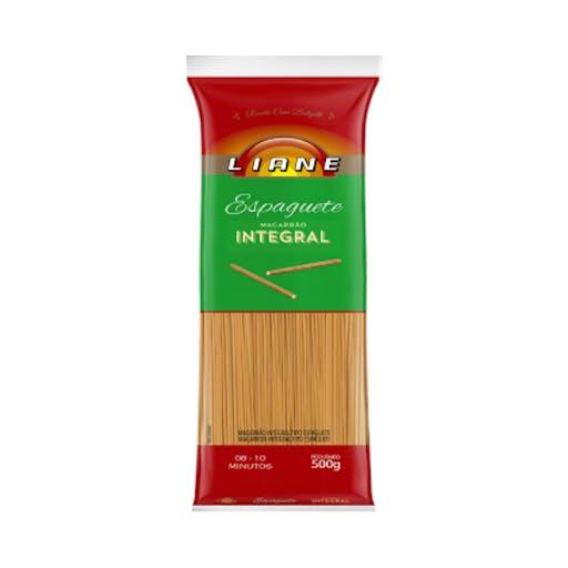 Macarrão Espaguete Integral - 500 g - Liane