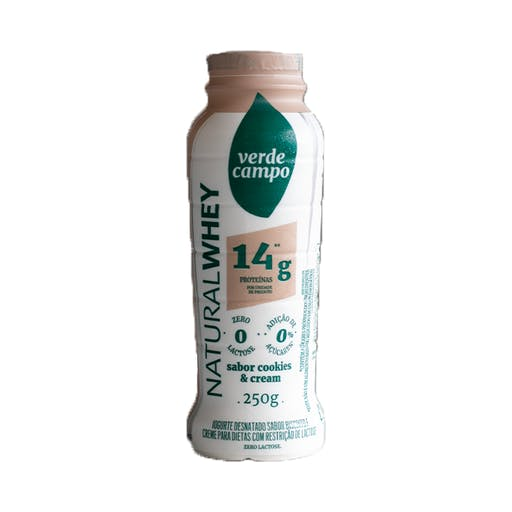 Iogurte Natural Whey 14g Cookies&Cream 250g - Verde Campo