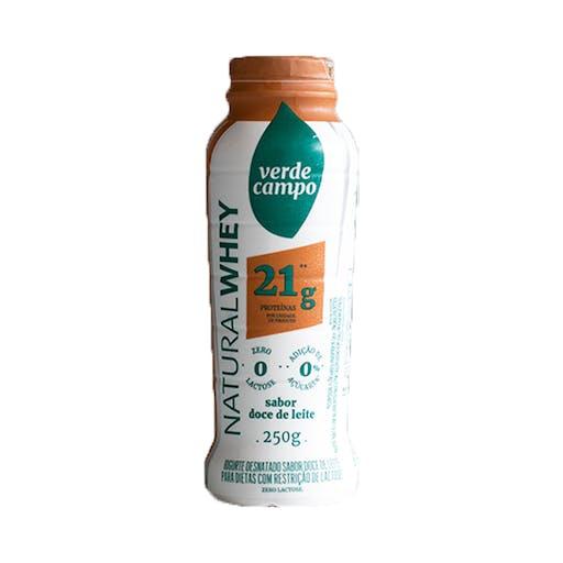 Iogurte Natural Whey 21g Doce de Leite - 250g - Verde Campo