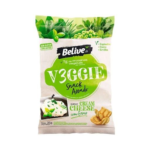 Snack V3GGIE Cream Cheese com Ervas - 35g - BeLive