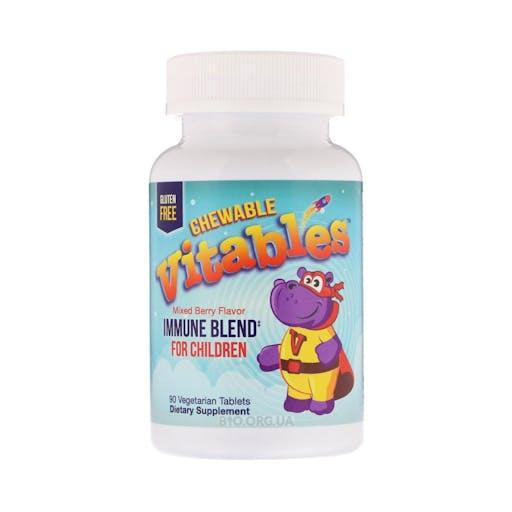 Vitables Chewable - Immune Blend For Children - Comprimidos Mastigáveis com Mistura Imunitária para Crianças - 90 comprimidos