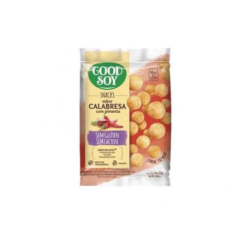 Snacks Sem Glúten e Sem Lactose Calabresa com Pimenta 25g - Good Soy