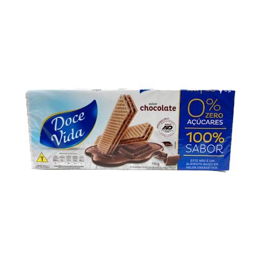 Biscoito Wafer Zero Açúcar 115g - Doce Vida