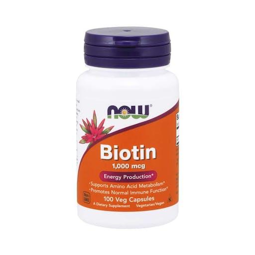 Biotina 1,000 mcg ( 100 Caps Veganas ) - Now Foods