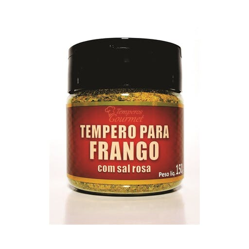 Tempero Gourmet para Frango com Sal Rosa 120g - Qvita