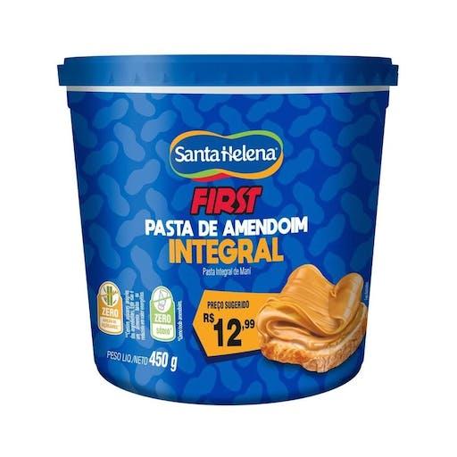 Pasta de Amendoim Integral First 450g - Santa Helena