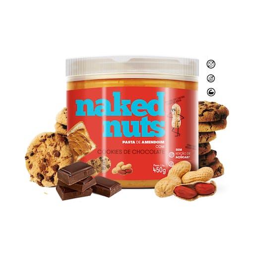 Pasta de Amendoim com Cookies de Chocolate - 150g - Naked Nuts