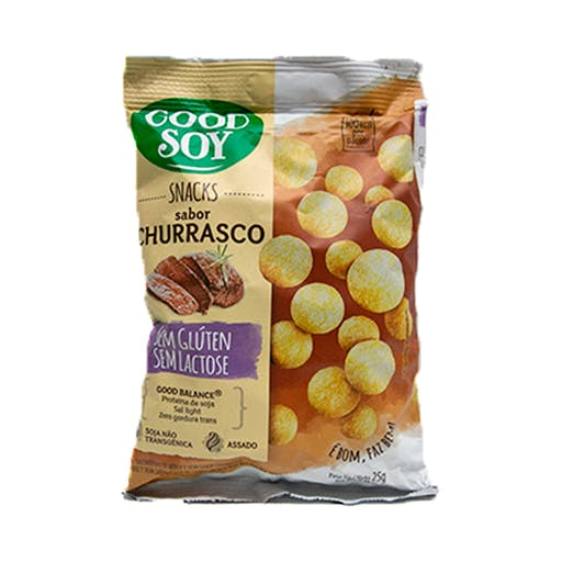 Snacks Sem Glúten e Sem Lactose Churrasco 25g - Good Soy