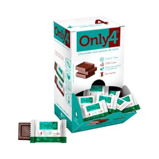 Chocolate 70% Cacau - Chocolate e Menta 5g - Only4