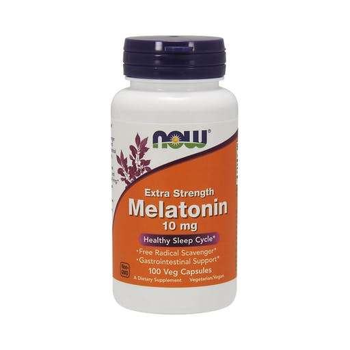 Melatonina 10mg - 100 Caps Veganas - Now Foods