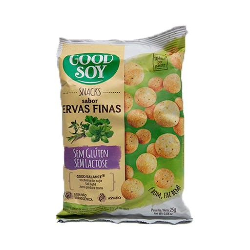 Snacks Sem Glúten e Sem Lactose Ervas Finas 25g - Good Soy