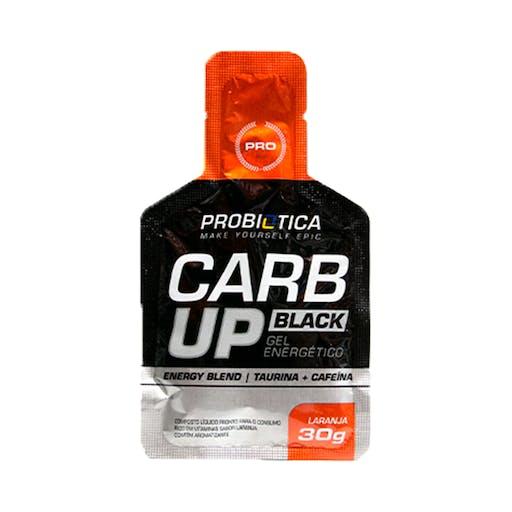 Carb Up BLACK GEL - Laranja 30g - Probiotica