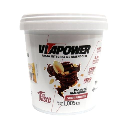 Pasta Integral de Amendoim Vitapower Shot Protein