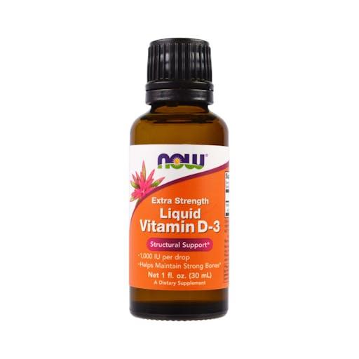 Vitamina D-3 Strucultural  Support 1000UI 30ml - Now