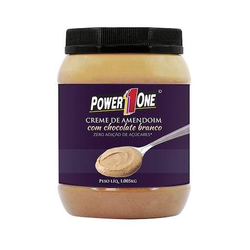 Creme de Amendoim com Chocolate Branco 1kg - Power  One