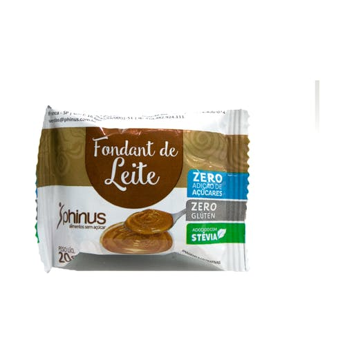 Fondant de Leite  Zero Açúcar 25g - Phinus