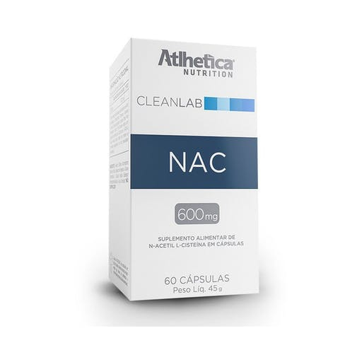 NAC 600MG CleanLab  Atlhetica - 60 CÁPSULAS