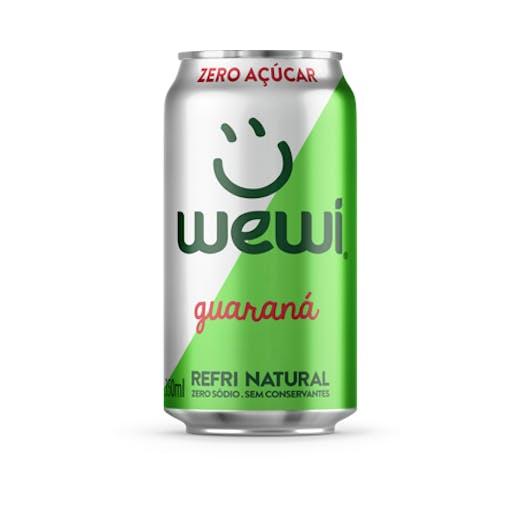 Refrigerante Guaraná Orgânico Zero Açúcar Lata- Wewi