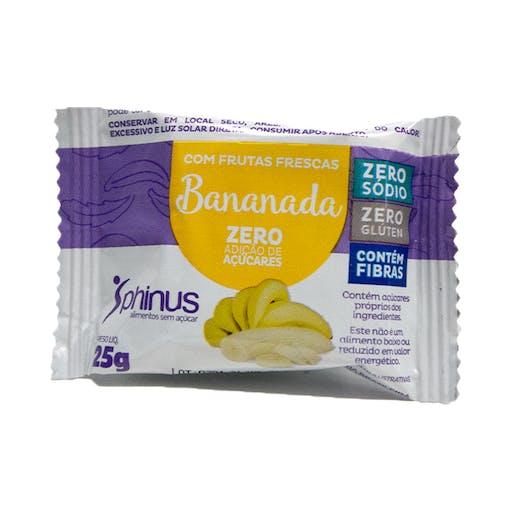 Bananada Zero Açúcar 25g - Phinus