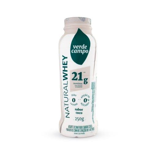 Iogurte Natural Whey 21g Coco - 250g - Verde Campo