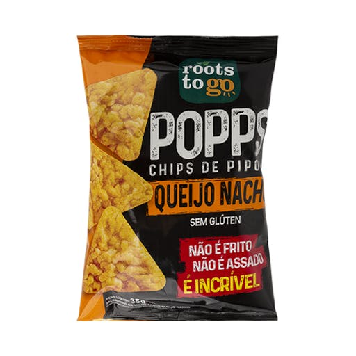 Snack Popps Queijo Nacho  - Roots To Go