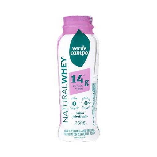 Iogurte Natural Whey 14g Jabuticaba - 250g - Verde Campo